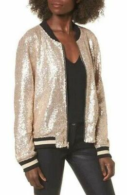 The Edit Juniors Bomber Gold XS