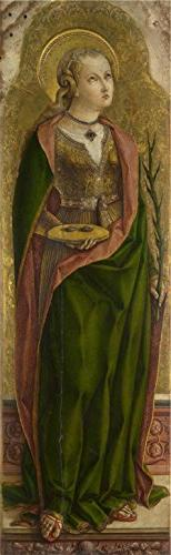 'Carlo Crivelli - Saint Lucy,about 1476' Oil Painting, 12x39