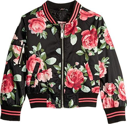 elizabeth sateen bomber jacket rose
