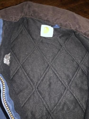 CARHARTT FADED LINED BOMBER JACKET VINTAGE Blue CORD