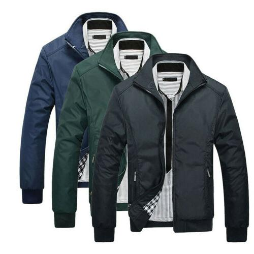 Men Jacket Summer Lightweight Bomber Coat Casual Outfit Tops