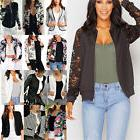 fashion women s retro floral zipper bomber