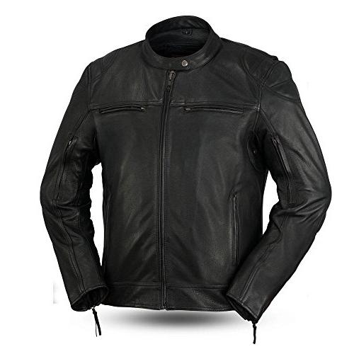 first manufacturing men top performer leather jacket