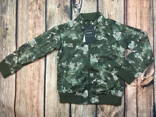 Members Only Girls Camo Lightweight Bomber Full Zip Jacket S