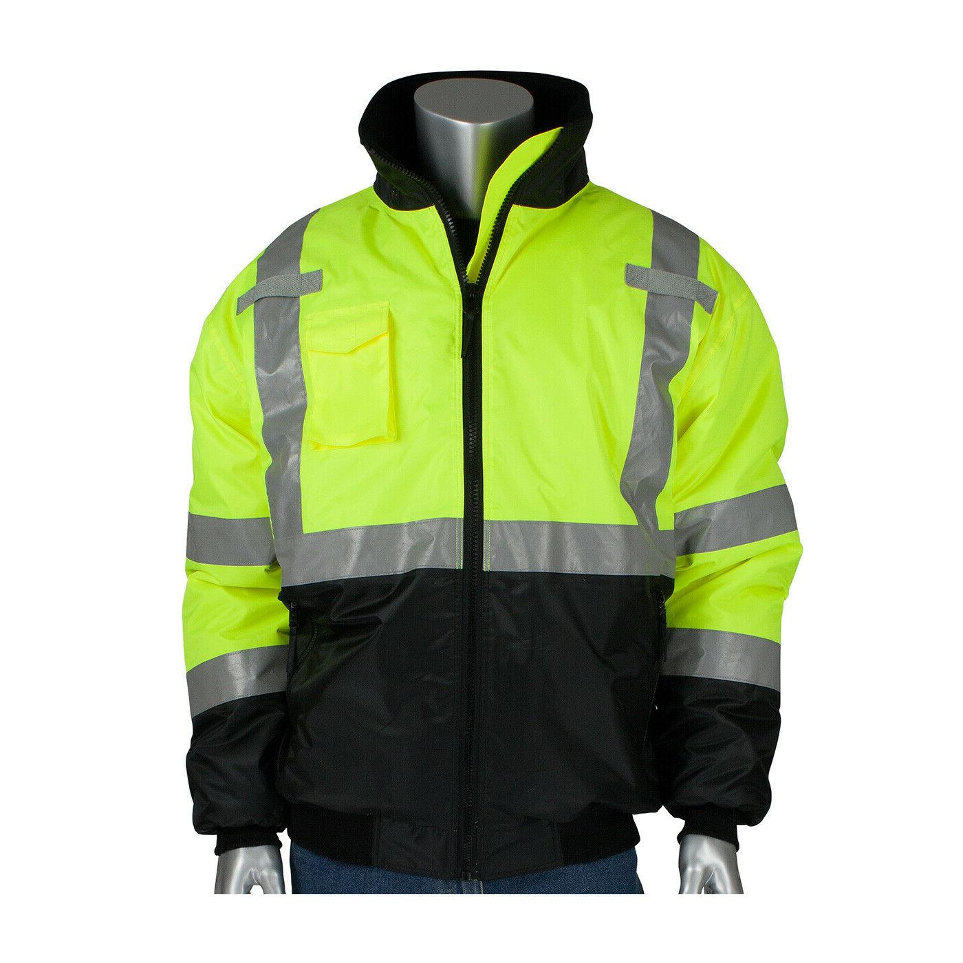 hi vis class 3 insulated safety bomber