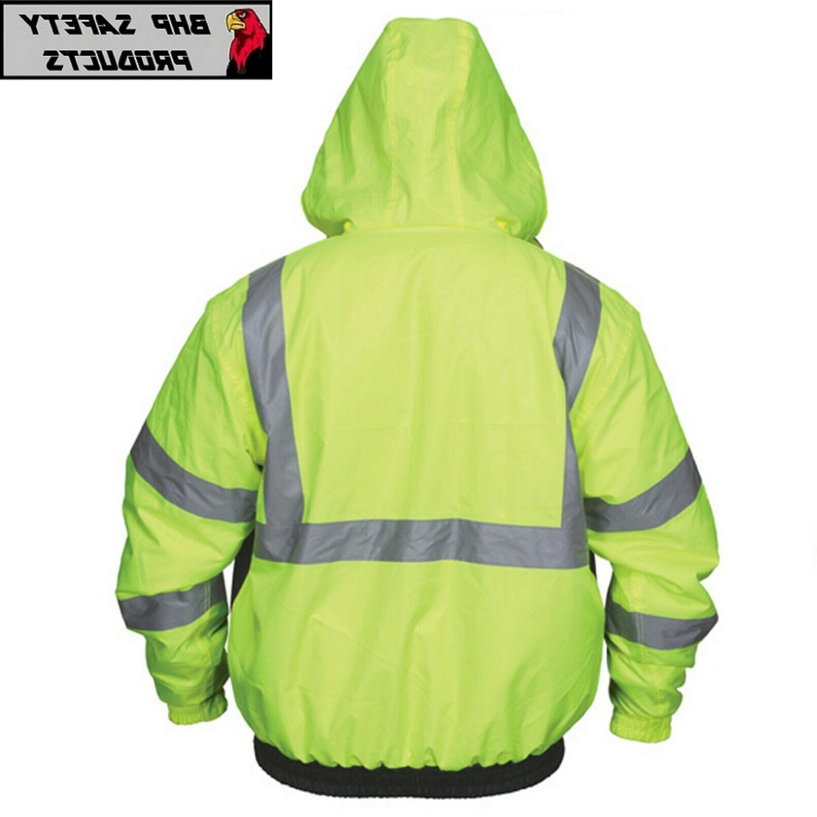 Hi-Vis Insulated Bomber Reflective Jacket