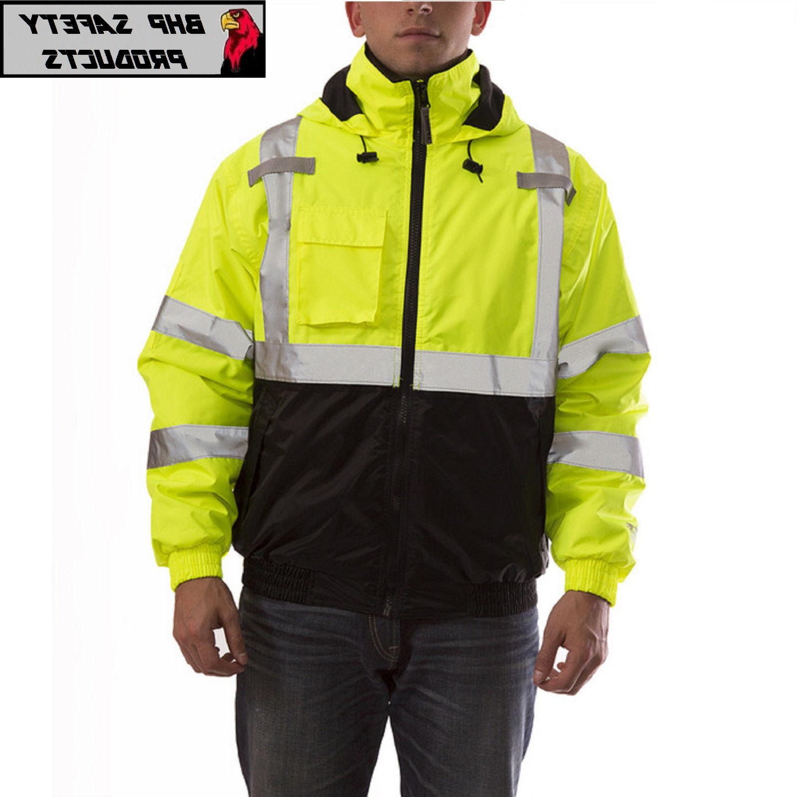 Hi-Vis Insulated Safety Reflective Jacket ROAD WORK