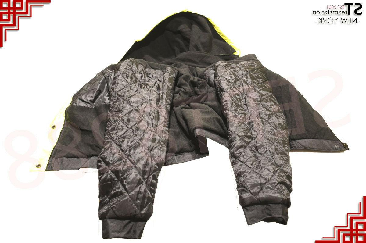 Hi Vis Insulated Safety Bomber Reflective Warm Road JO