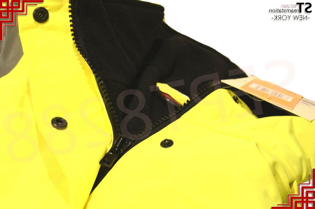 Hi Vis Insulated Bomber Jacket Warm JO