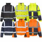 Hi Viz Vis Work Contractors Bomber Jacket Waterproof Padded