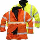 Hi Viz Waterproof Storm Padded Parka Jacket Mens Traffic Coa