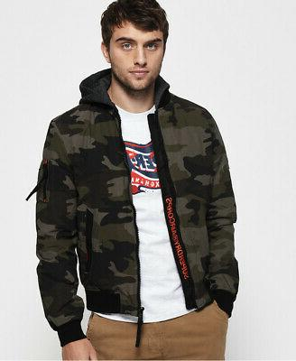 mens hooded air corps bomber jacket