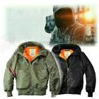 Alpha Industries Hooded MA-1 without Fur  Flight Jacket Bomb
