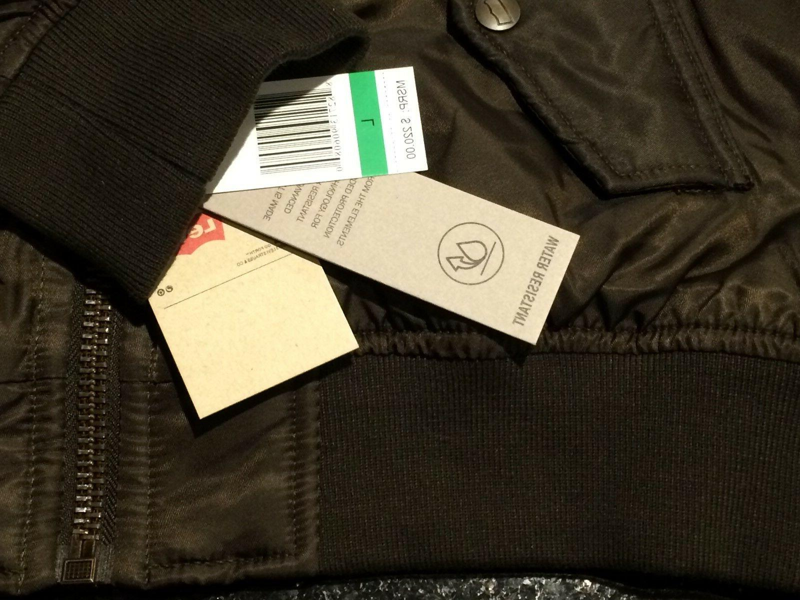 LEVI'S Olive & Wind Puffer L NEW