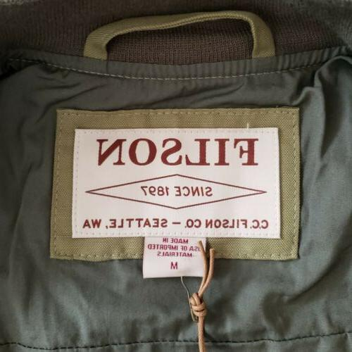 Filson /'Libby Bomber/' Jacket in Field Green Women/'s Size Medium