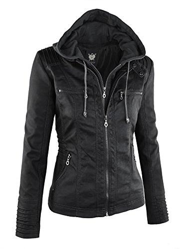 WJC663 Womens Removable Motorcyle Jacket M