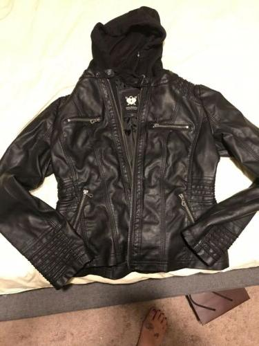 lock and love faux jacket nwot medium