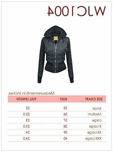 Lock Womens Inner Bomber with Hoodie