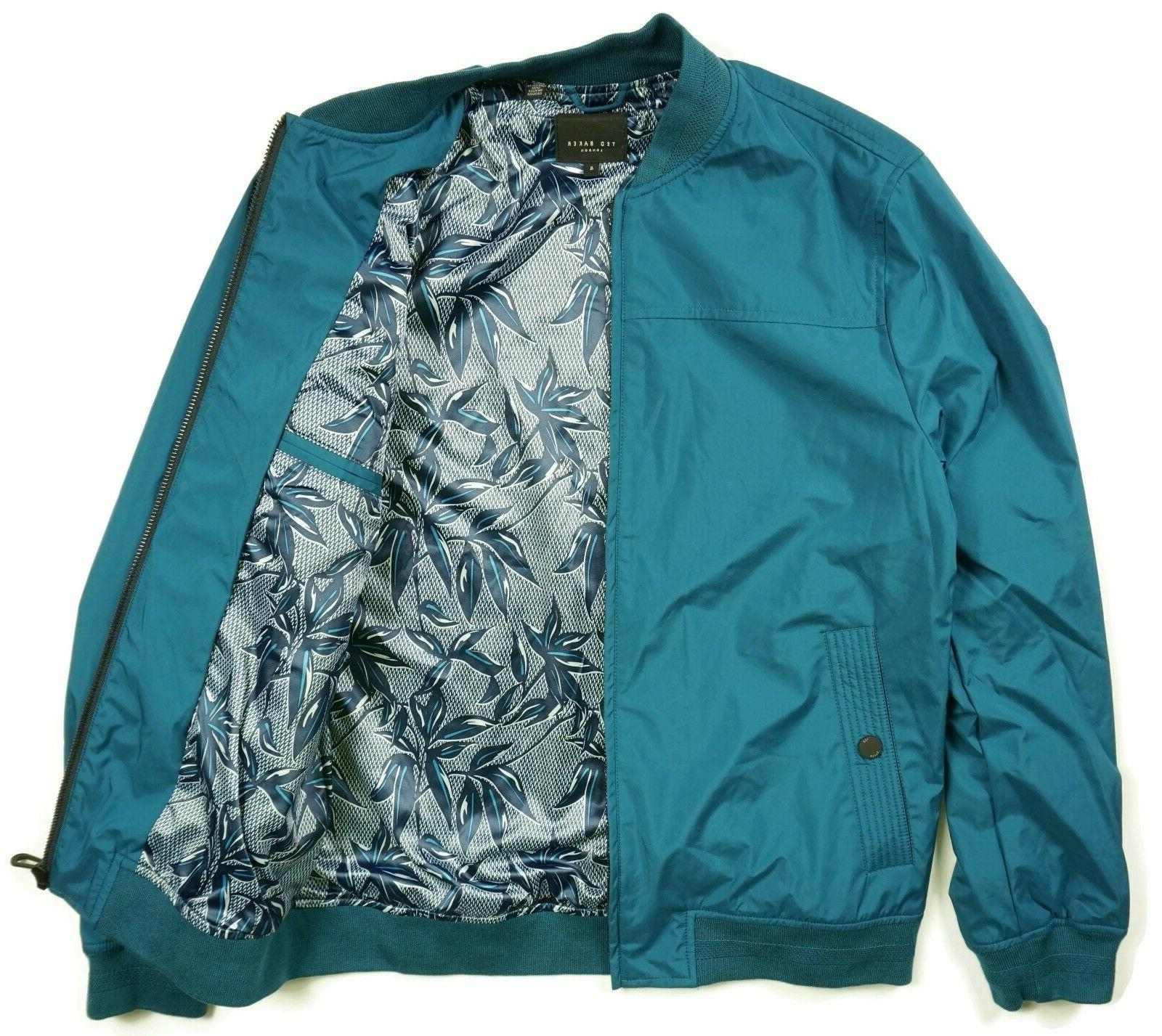 Ted London Mens Bomber Size 4 Zip Up Blue