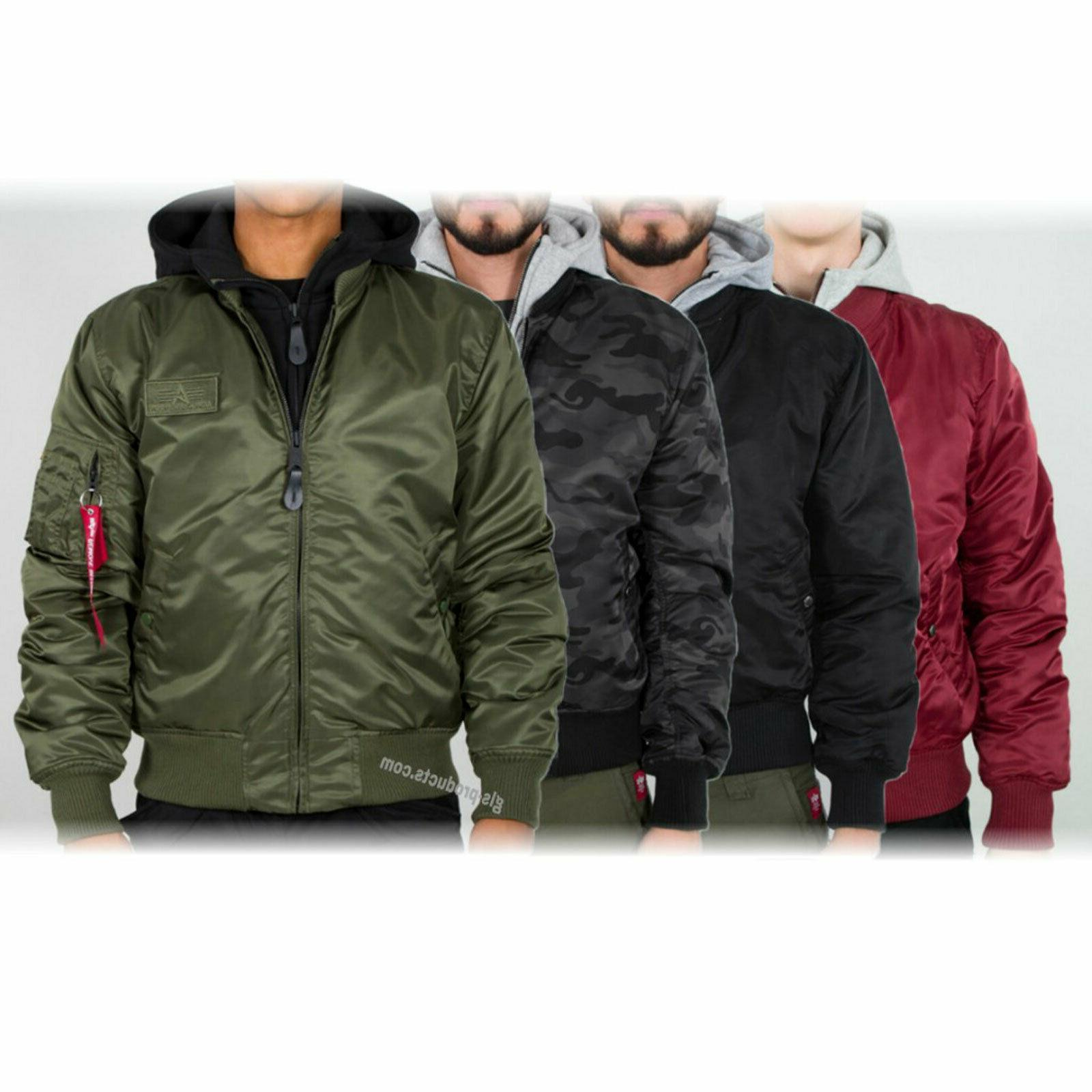 Alpha Industries MA-1 D-Tec New Bomber Jacket Detachable Hoo