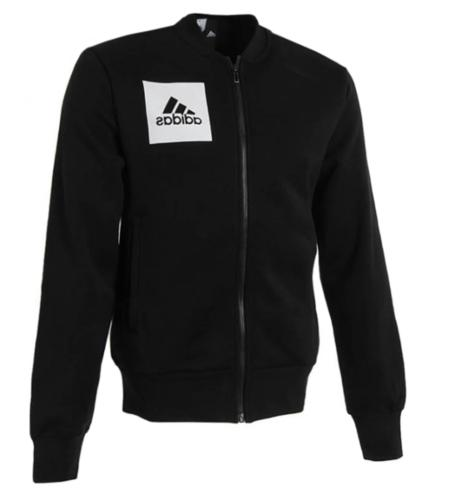 Adidas Men ESS Bomber Top Jackets Black Running Full-zip L/S