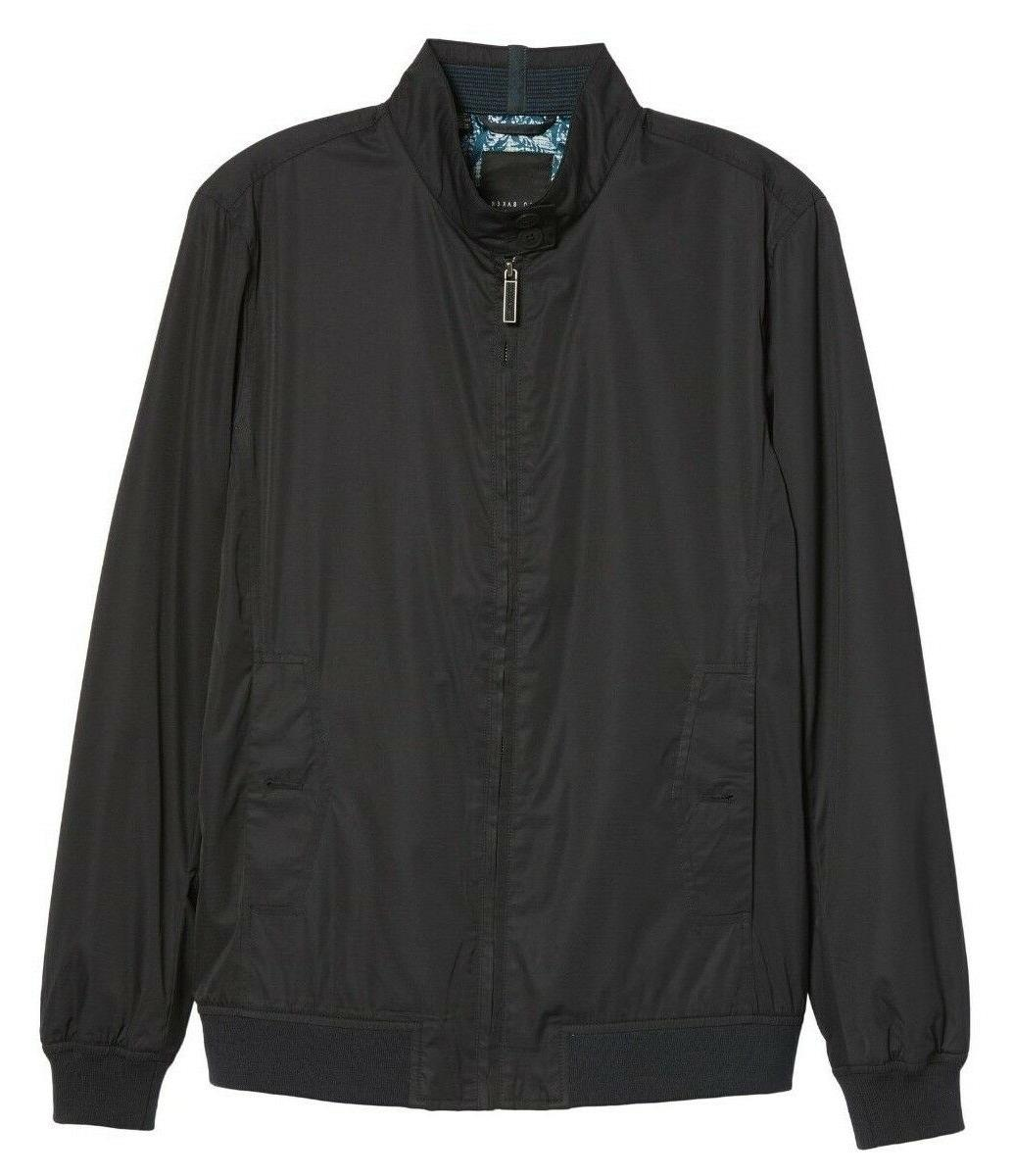 Ted Baker Men's Black Calgar Nylon Bomber Full Zip Jacket