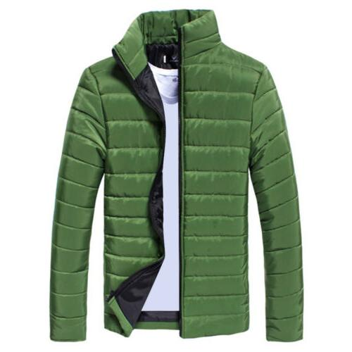 Mens Down Coat Jacket Quilted Outwear