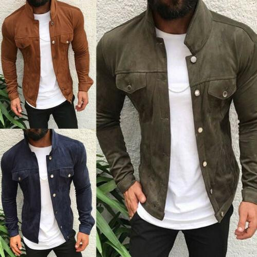 Men's Button Casual Long Sleeve Slim Outwear