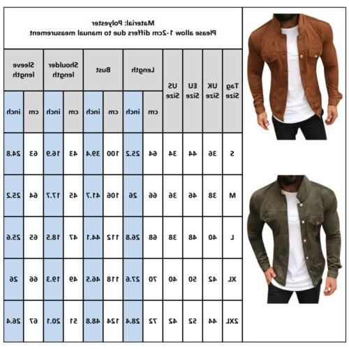 Men's Casual Solid Pocket Long Slim Outwear
