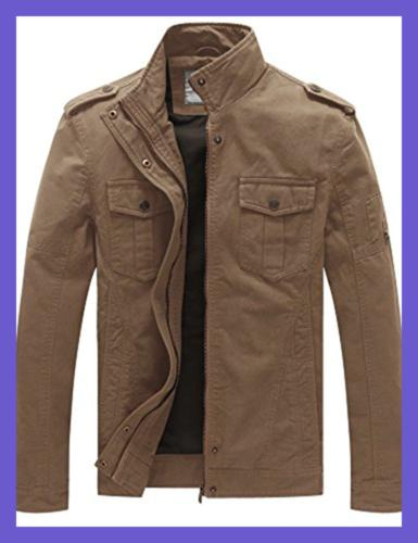 WenVen Casual Military Jacket