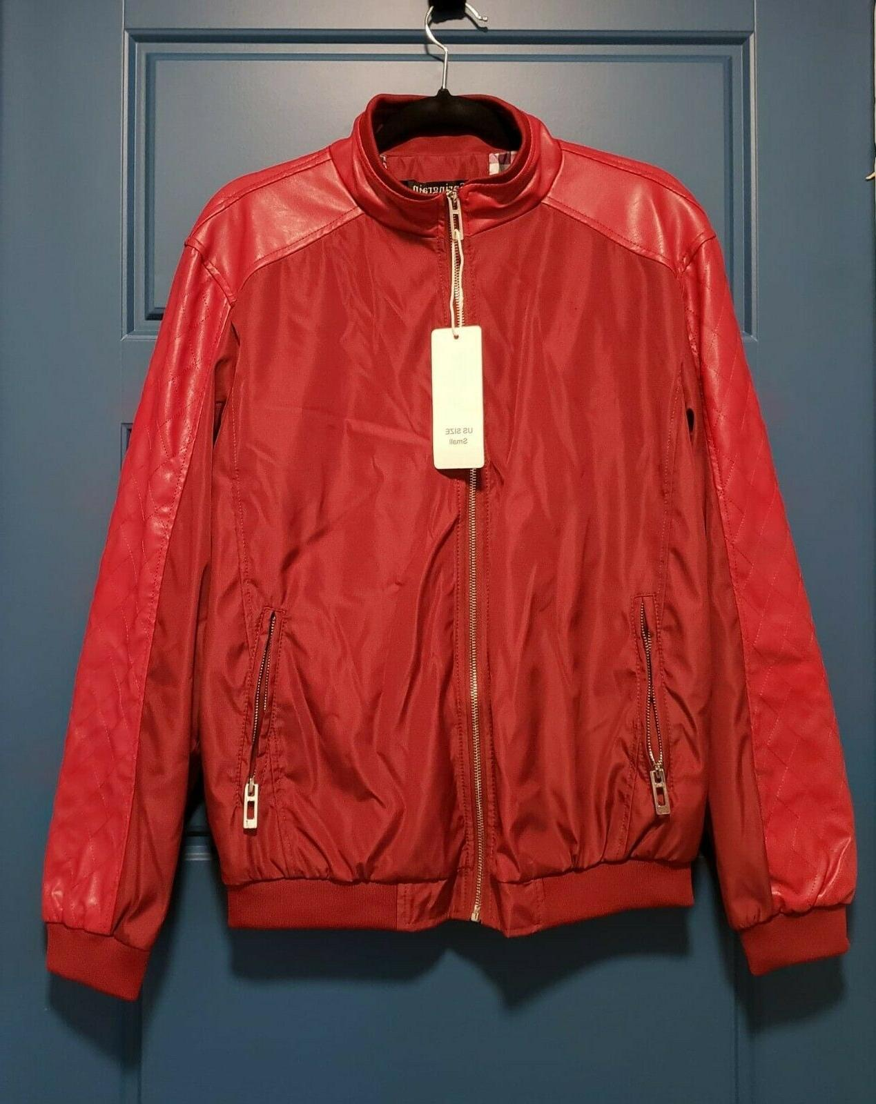 Men's casual stand slim bomber 100% polyester