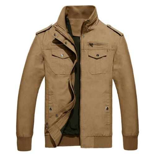 Men's MA-1 Flight Jacket Military Force Army Bomber Coats