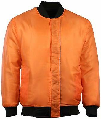 Montana Men's Lightweight Reversible Pilot Jacket-Black/Orange