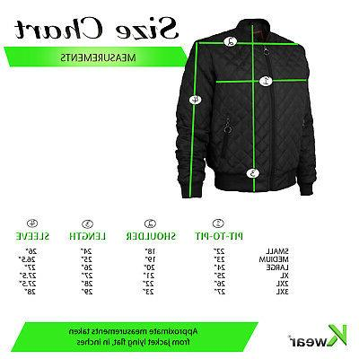 Men's Ring Quilted Resistant Bomber Jacket JASON