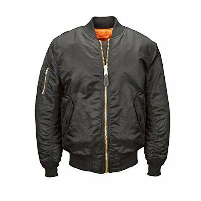 Alpha Industries Men's MA-1 Blood Chit Flight Bomber Jacket