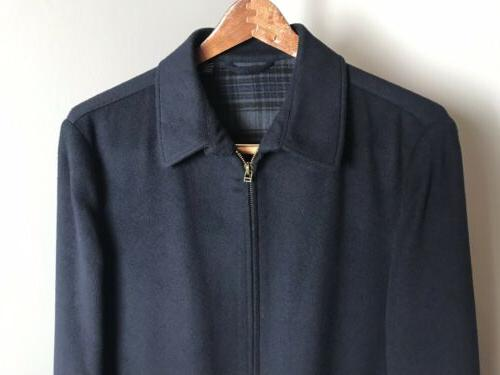 Ted Blue Wool Blend Zip Front 3