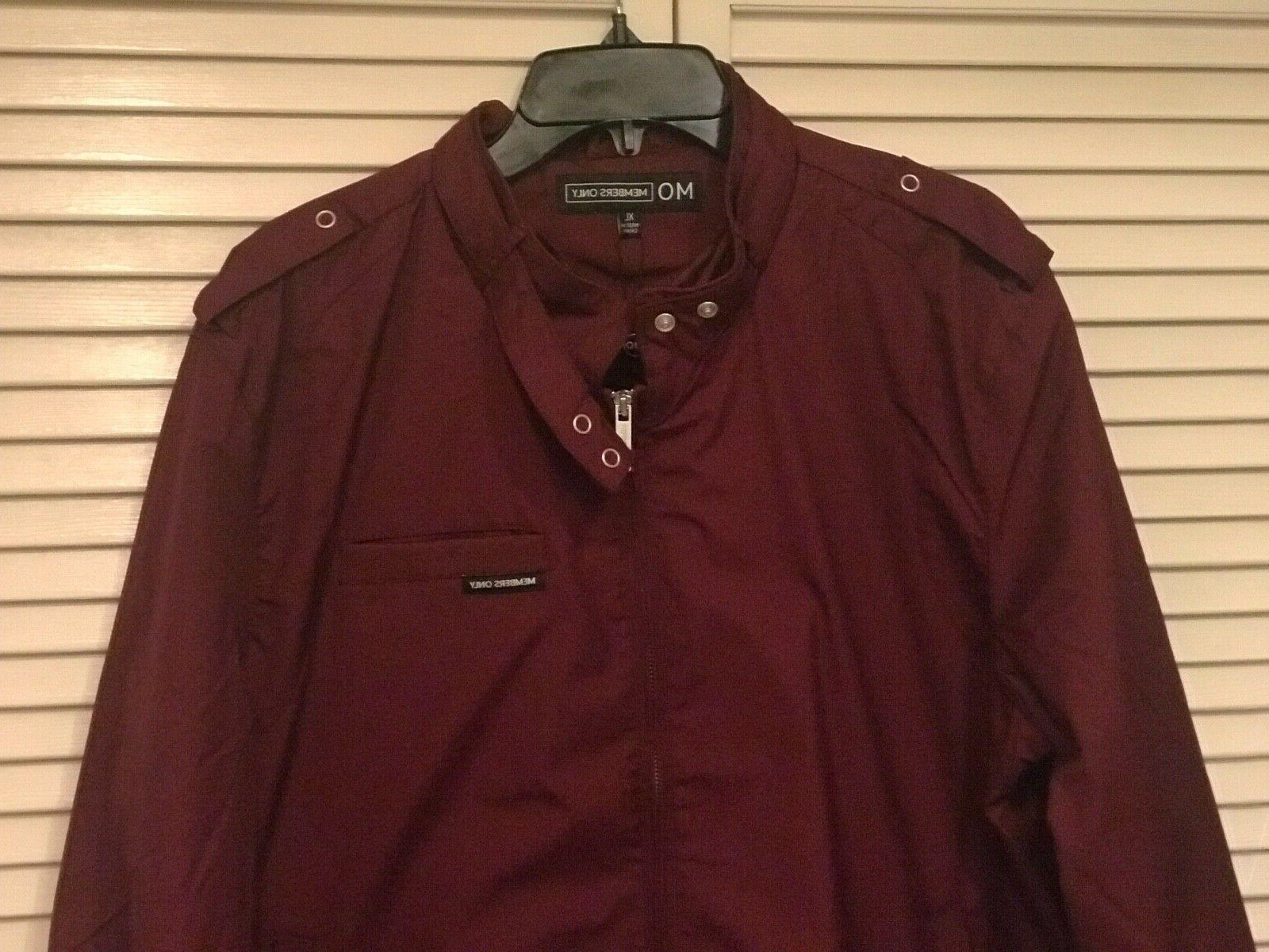 men s original iconic racer jacket burgundy