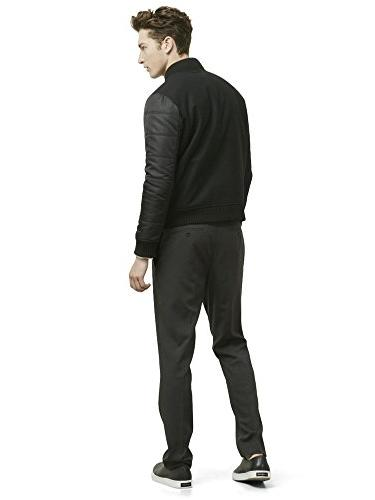 Kenneth Reaction Quilted Bomber Jacket Xl Black Combo