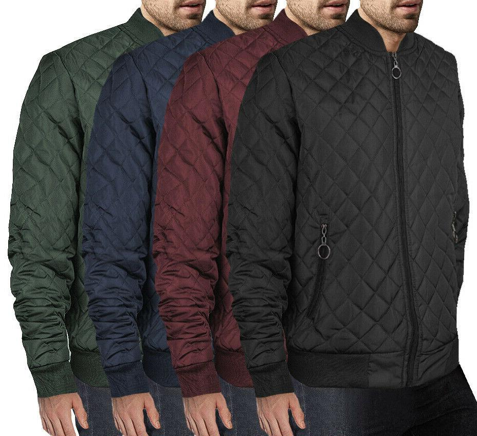 men s ring zipper stylish quilted water