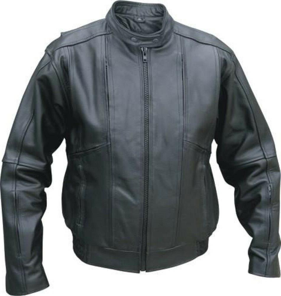 Men's Touring Bomber Jacket Vented Front, Back and Sleeves A