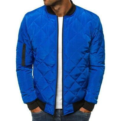 S-2XL Bubble Down Jacket Bomber Quilted