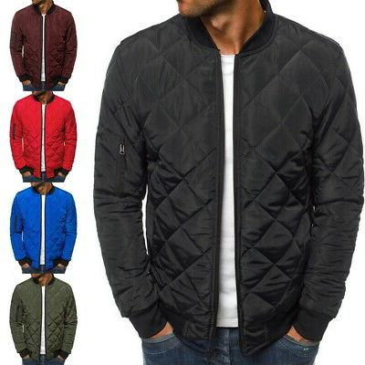 Men's Winter Down Jacket Lightweight Packable Stand Collar P