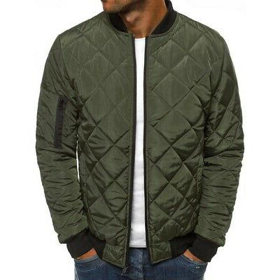 S-2XL Men's Puffer Bubble Bomber Quilted Outwear