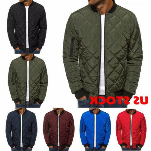 men quilted padded lightweight jacket puffer bubble
