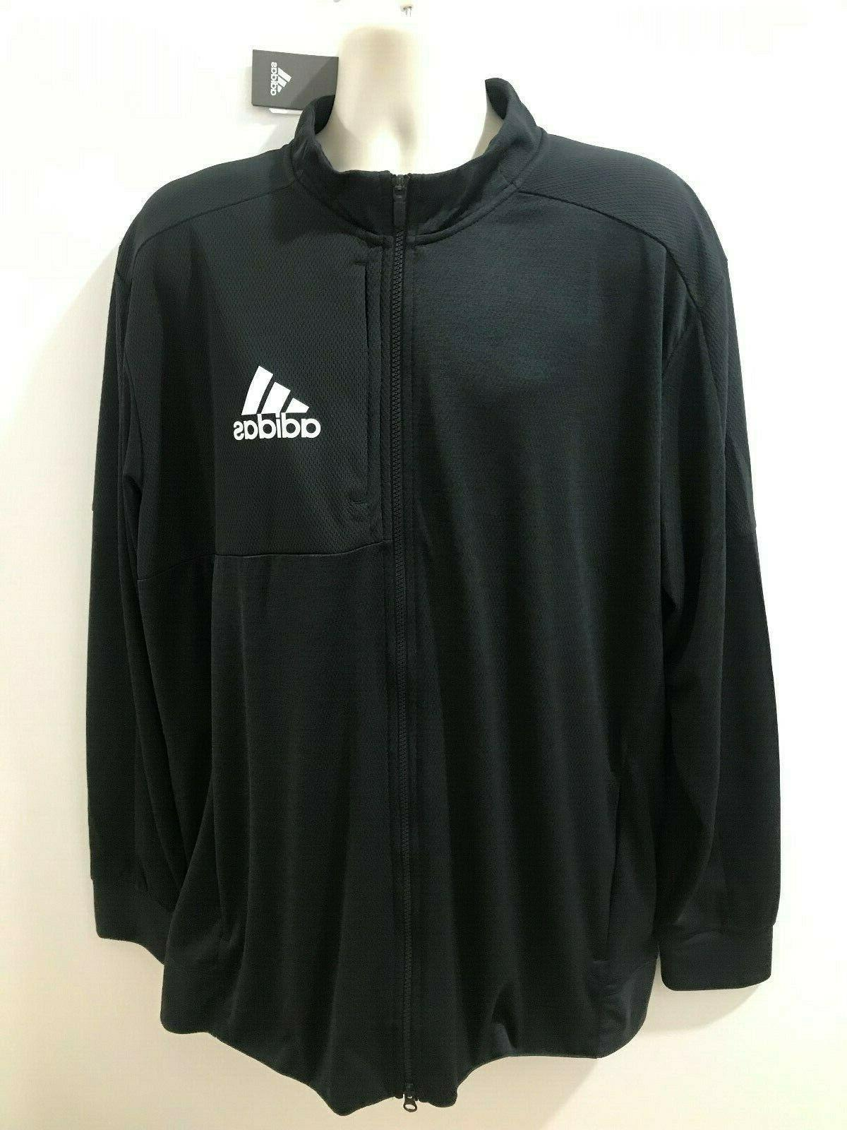 mens black sz 2xl full zip team