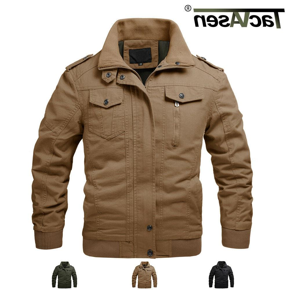 mens bomber cotton jacket coats air force