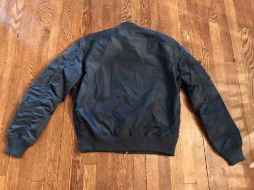 Mens Bomber Industries XL Replica Blue New With 1