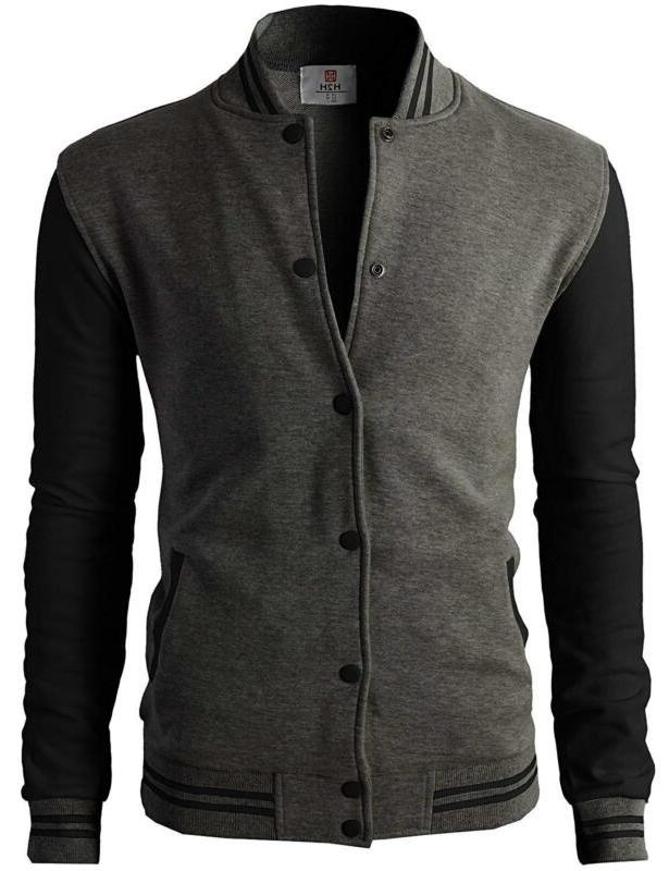 H2H Mens Casual Fit Bomber