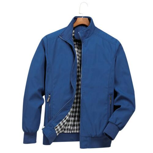 Mens Bomber Coat Outfit Outerwear Clothing