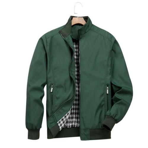 Mens Bomber Jacket Coat Casual Outfit Tops Outerwear Clothing M-3XL